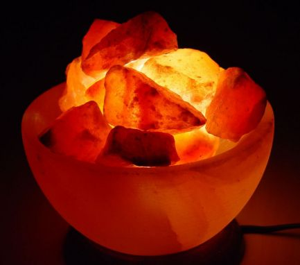 Himalayan Fire Bowl Salt Lamp Basket